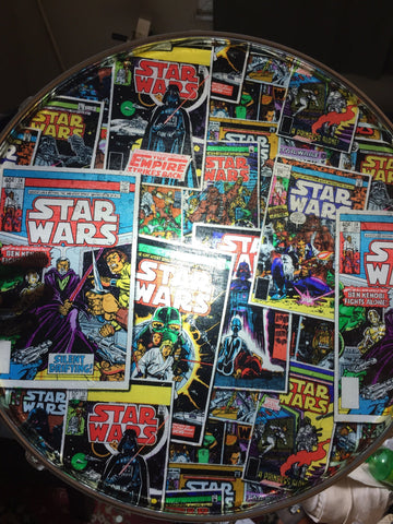 Floor tom coffee table with Star Wars top Louson Drums