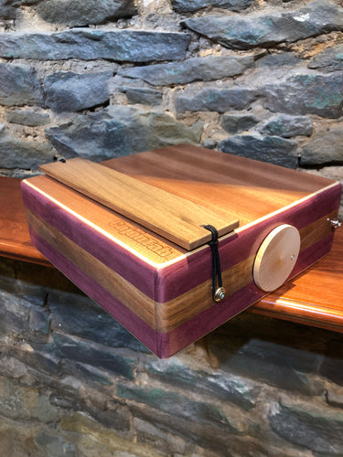 "12"" Pro Series CajonTab- Purple Heart and Walnut"