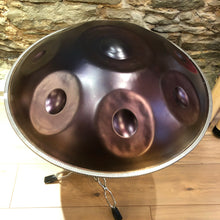 Purple copper patina intermediate handpan d minor 9 note