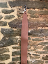 "Perri's Leathers 3.5"" light brown leather guitar strap"