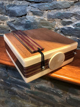 "10"" Pro Series CajonTab - aspen with walnut/purple stripe"