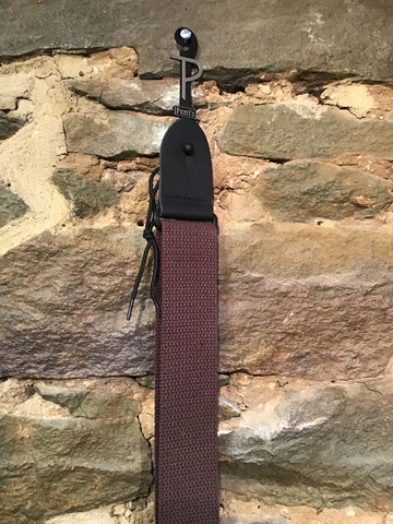 "Image of Perri's Leathers 2"" brown basic cotton guitar strap"