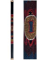 "48"" Rain Stick with painted aboriginal turtle design"