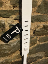 "Perri's Leathers 2"" white leather guitar strap"