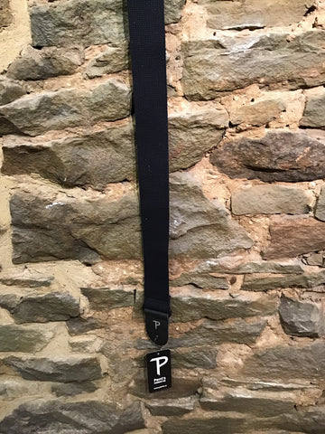 "Image of Perri's Leathers 2"" basic black cotton guitar strap"