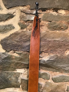 "Perri's Leathers 2.5"" soft brown leather guitar strap"
