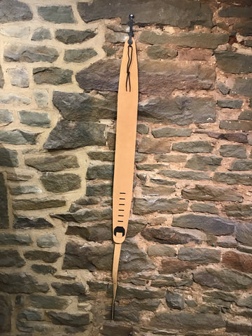 "Image of Perri's Leathers 3.5"" soft Black and Tan suede guitar strap"