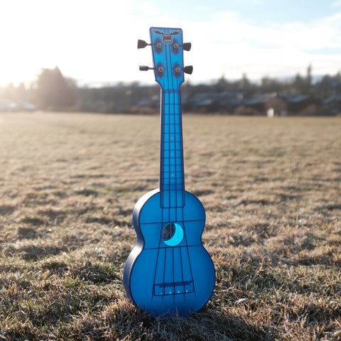 Image of OUTDOOR UKULELE™ SOPRANO BLUE NICKEL