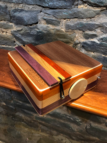 "10"" Pro Series CajonTab - padauk, cherry, and purple heart"