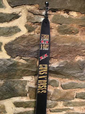 "Image of Perri's Leathers 2.5"" Guns N' Roses print leather  guitar strap"