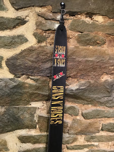 "Perri's Leathers 2.5"" Guns N' Roses print leather  guitar strap"