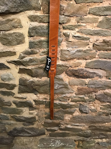 "Image of Perri's Leathers 2.5"" soft brown leather guitar strap"