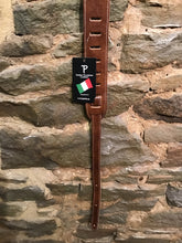 "Perri's Leathers 2"" premium brown Italian leather guitar strap"