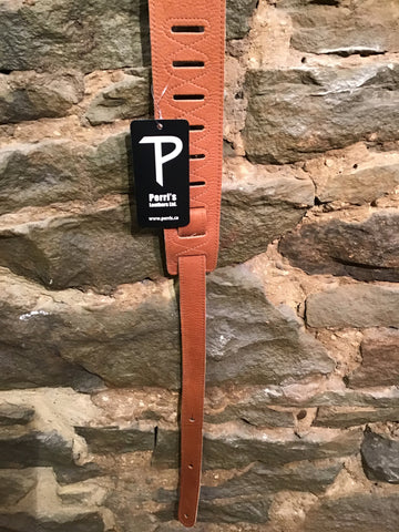 "Perri's Leathers 2.5"" soft tan leather guitar strap"