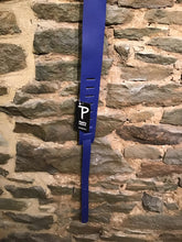 "Perri's Leathers 2.5"" blue leather guitar strap"