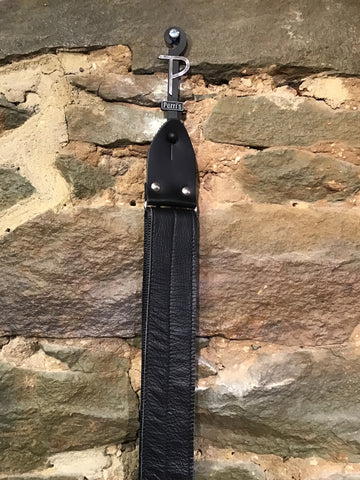 "Image of Perri's Leathers 2"" Garment leather with smooth seatbelt backing guitar strap"