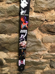 "Perri's Leathers 2"" David Bowie print guitar strap"