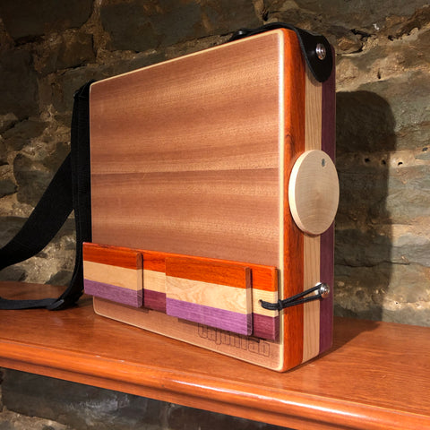 "CajonTab®️ Pro Series 12"" - Padauk, Cherry, and Purpleheart"