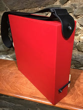 "12"" CajonTab red acrylic frame, blue/black tapa"
