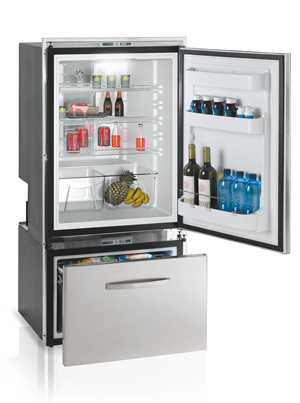 DW250IXN4-EFV - 7.7 cu. ft. Refrigerator and Single Drwr Freezer, Electronic Control w/Temperature Read-Out, Interior Lights, 2 Internal Condensing Units, Surface Flange