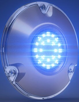 Lumishore LM600195 SUPRA SMX52 (Master) LED Underwater Boat Light Surface Mount - Blue/White - 90° 10.5-31VDC