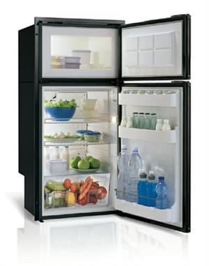 DP150IBD4-S - 5.3 cu. ft. Refrigerator/Freezer, Black, Double Door, Internal Condensing Unit, Surface Flange