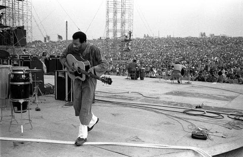 During the sometimes rainy weekend, thirty-two acts performed outdoors in front of 500,000 concert-goers. It is widely regarded as a pivotal moment in popular music history. Rolling Stone listed it as one of the 50 Moments That Changed the History of Rock and Roll.