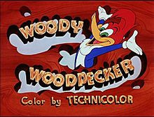 Woody Woodpecker title card, 1950
