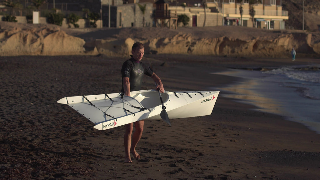 Filming HYPAR Kayak at Tenerife el Medano
