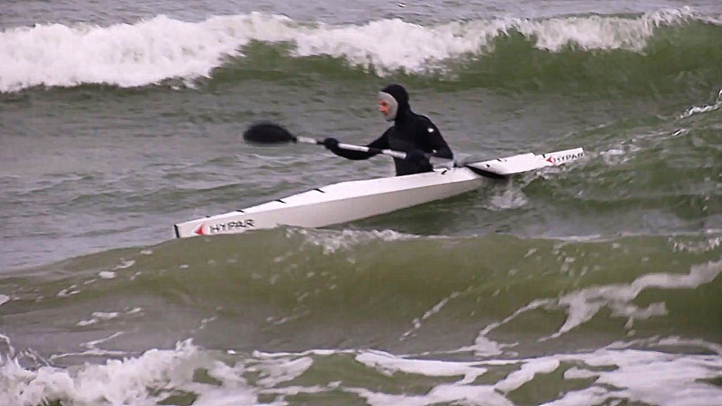 HYPAR Kayak was tested by the Baltic storm