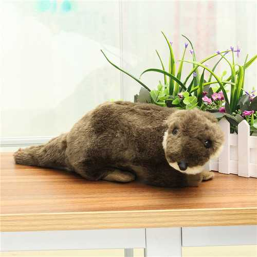 40cm Simulatioon Plush The Sea Otter Toy Stuffed Cute Otters Doll Toys Wild Animals Children Gift