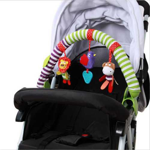 0-12M Baby Crib Toy Stroller Rattles Seat Take Along Travel Arch Toys for Pram