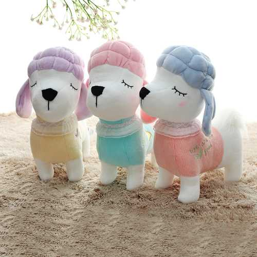 Metoo 24CM Poodle Dog Plush Toy Stuffed Cartoon Animal Doll For Baby Kids Birthday Gift