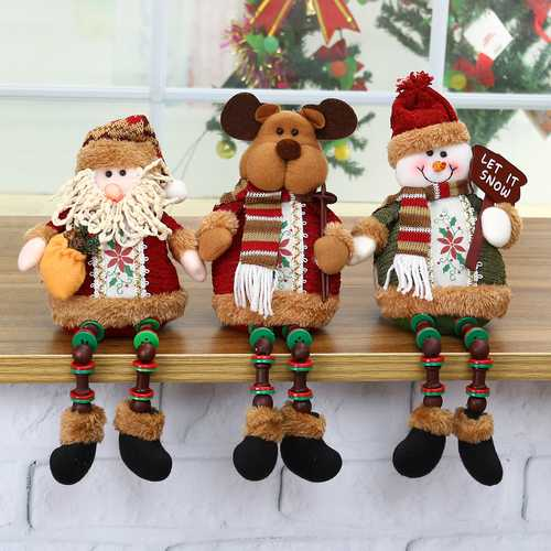 Santa Snowman Reindeer Doll Christmas Decoration Tree Hanging Ornament Gift