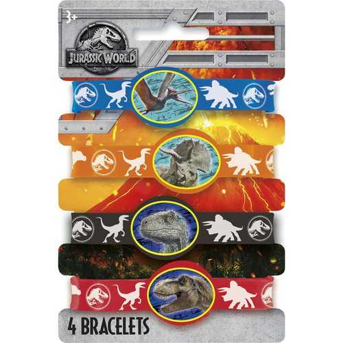 Jurassic World Rubber Stretchy Bracelets [4 Per Package]