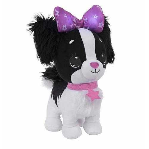 Wish Me Pets Glow Plush - Black and White Cavalier Puppy