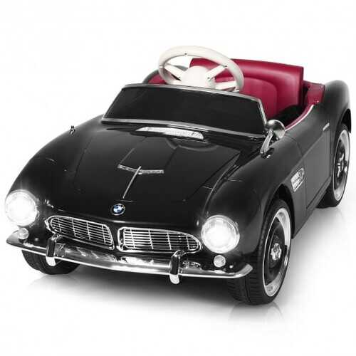 12 V BMW 507 Licensed Electric Kids Ride On Retro Car-Black