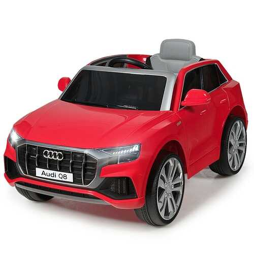 12V Licensed AudiQ8 Kids Ride On Car-Red