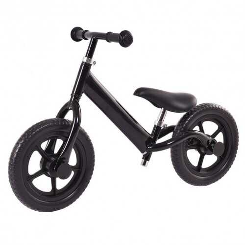 "12"" Balance Kids No-Pedal Learning Bicycle Black/Pink-Black"