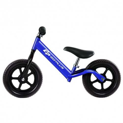 "Black/Pink/Blue 12"" Balance Kids No-Pedal Learning Bicycle -Blue"
