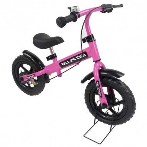 "12"" Three Colors Kids Bike Bicycle with Brakes and Bell-Pink"