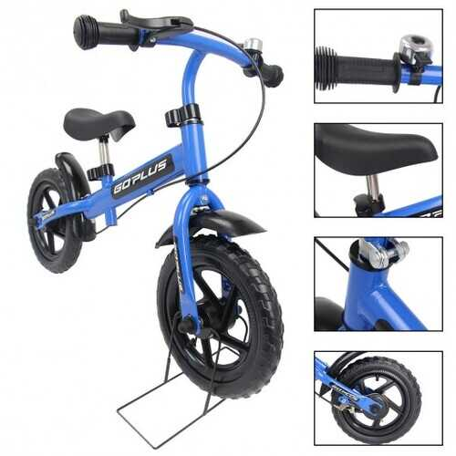"12"" Three Colors Kids Bike Bicycle with Brakes and Bell-Blue"