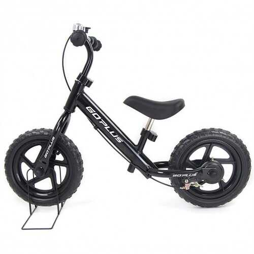 "12"" Four Colors Kids Balance Bike Scooter with Brakes and Bell-Black"