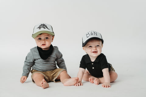 Baby trucker hats made for ages 6 months-18 months (45-49 cm). We design  hats for parents and kids alike that fit great bf32bc395d6