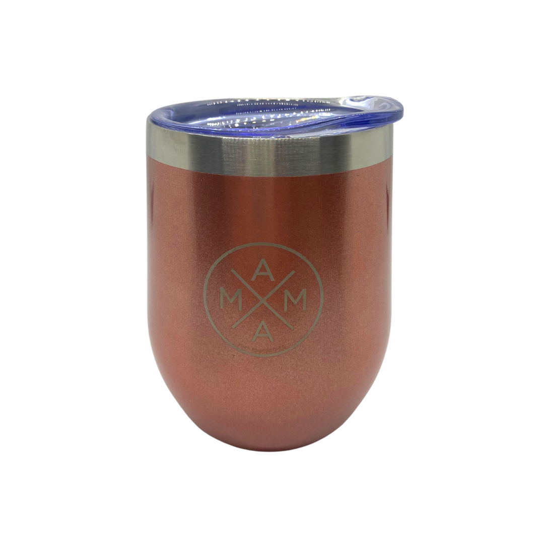 MAMA X ™ THERMOS WINE TUMBLER - ROSE GOLD