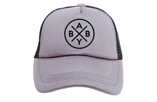 BABY X (GREY & BLACK) TRUCKER