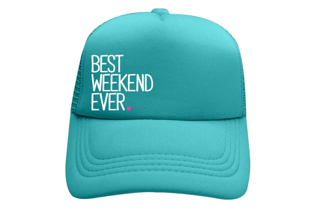 BEST WEEKEND EVER TRUCKER (TEAL)