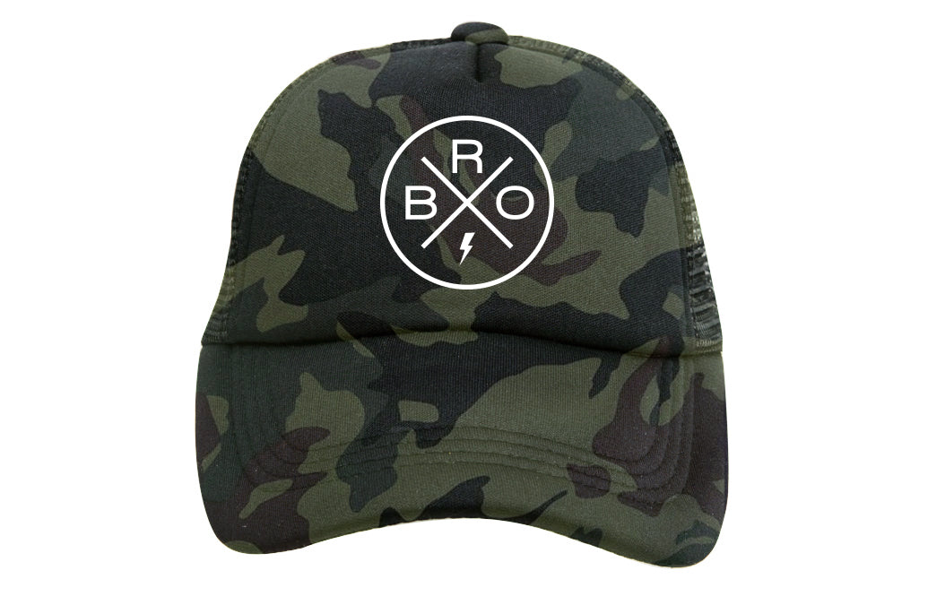 BRO X GREEN CAMO TRUCKER