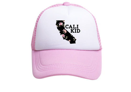 CALI KID (BLACK FLORAL) TRUCKER