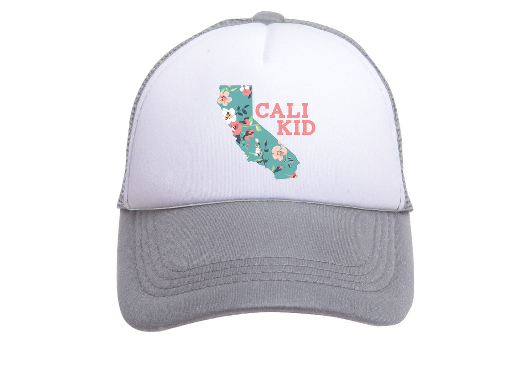 CALI KID (TEAL FLORAL) TRUCKER